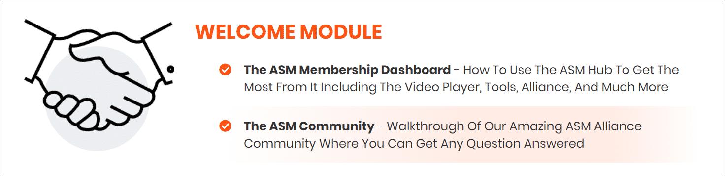 Welcome module