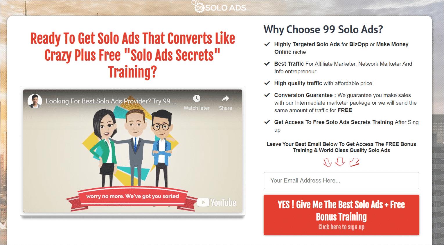 99 Solo Ads