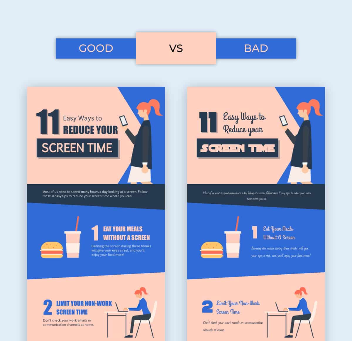 posting infographics on social media